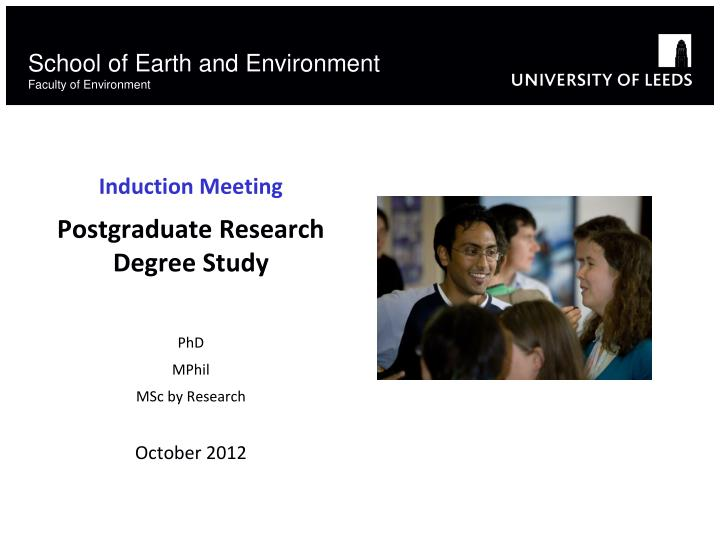 school of earth and environment faculty of environment n.