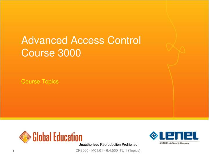 advanced access control course 3000 n.