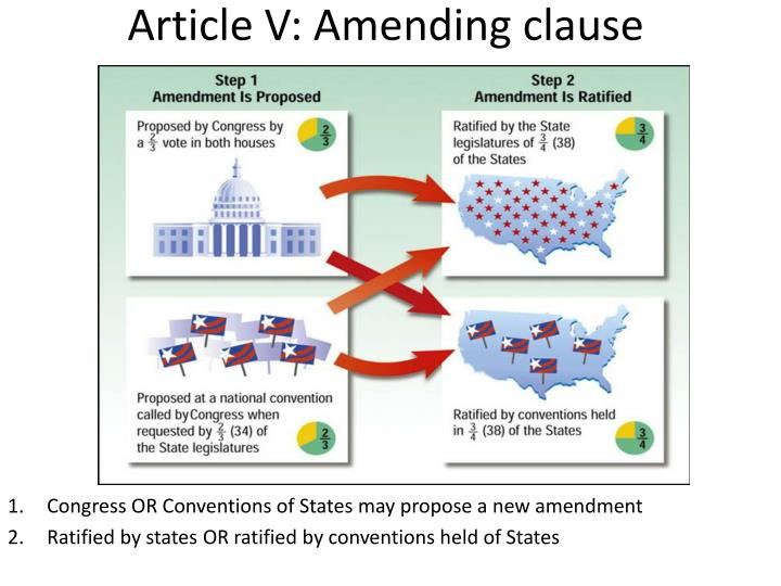 Article V: Amending clause