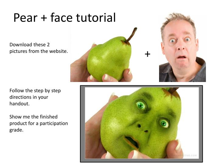 Pear + face tutorial