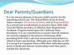 dear parents guardians