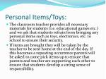 personal items toys