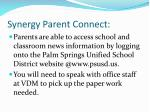 synergy parent connect