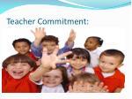 teacher commitment