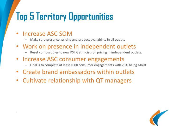 Top 5 Territory Opportunities