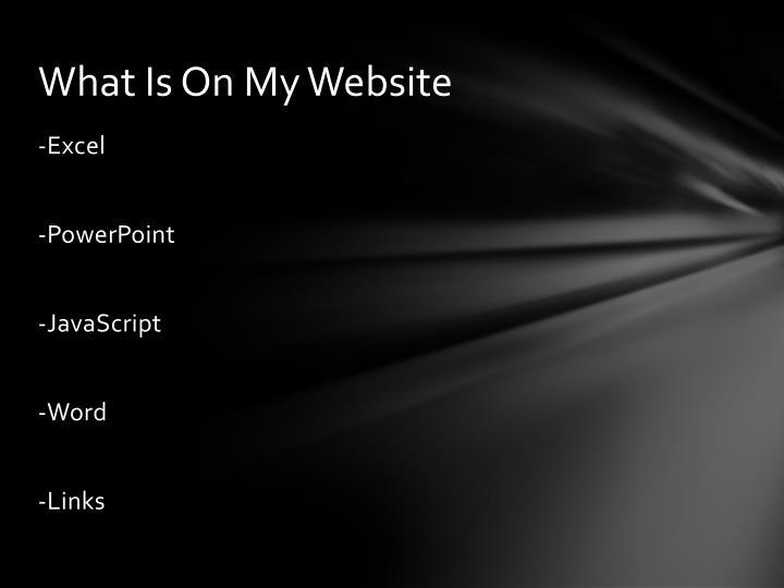 What is o n m y website