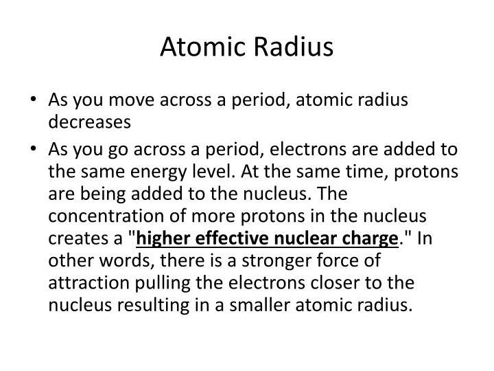 Atomic radius1
