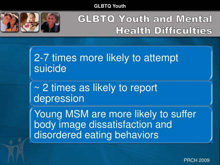 GLBTQ Youth and Mental Health Difficulties