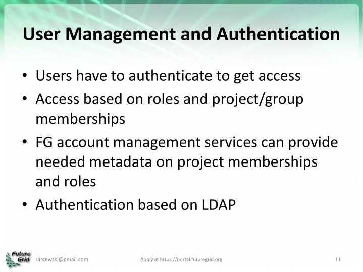 User Management and Authentication