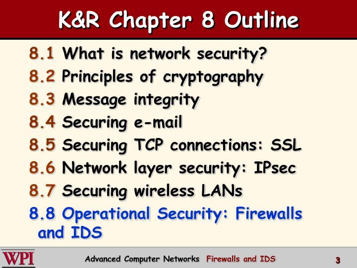K r chapter 8 outline