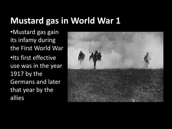 Mustard gas in World War 1