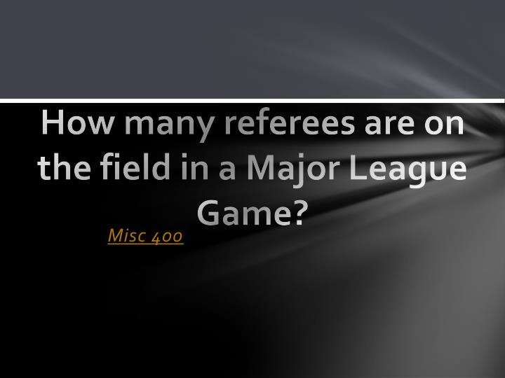 How many referees are