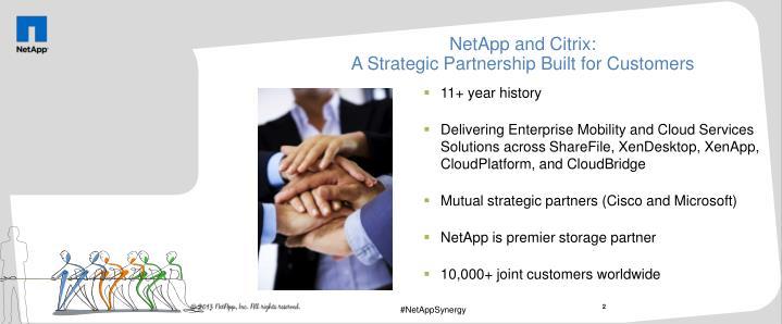 Netapp and citrix a strategic partnership built for customers