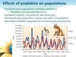 effects of predation on populations