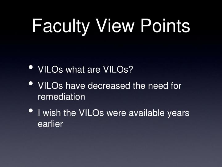 Faculty View Points