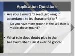 application questions