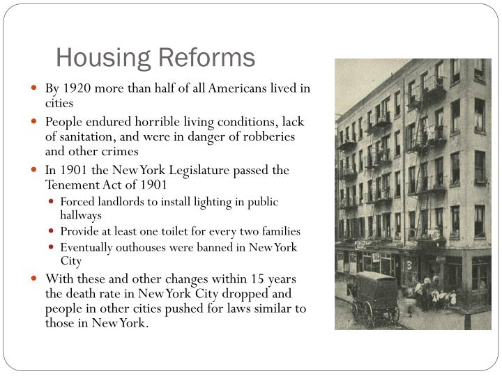 Housing reforms