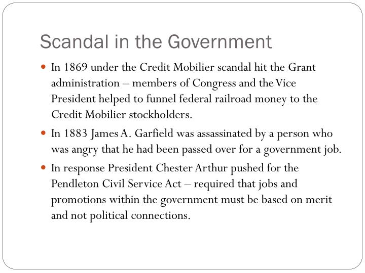 Scandal in the Government