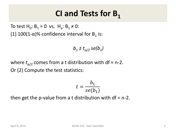 CI and Tests for B