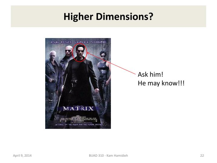 Higher Dimensions?