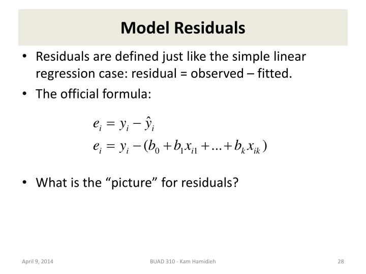 Model Residuals
