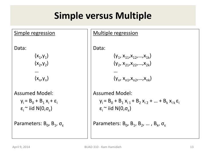 Simple versus Multiple