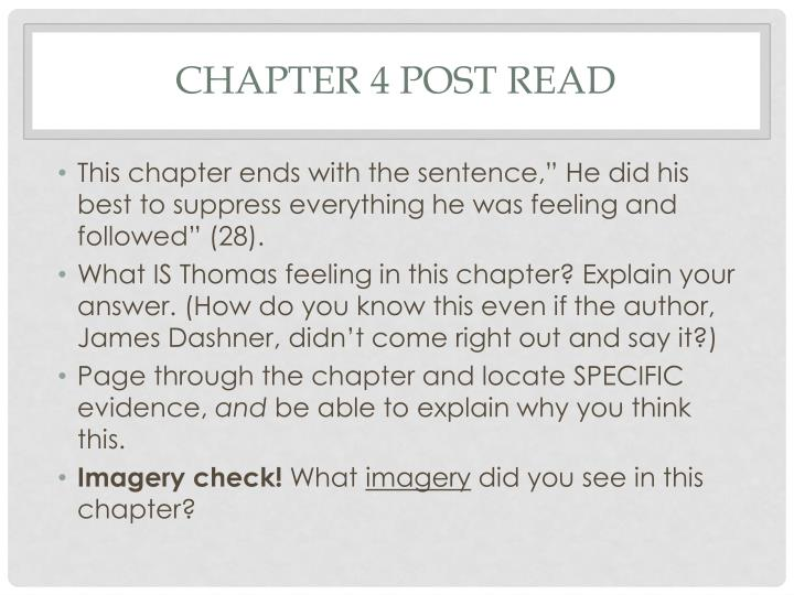 Chapter 4 post read