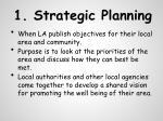 1 strategic planning