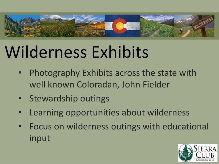 Wilderness exhibits