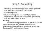 step 1 prewriting