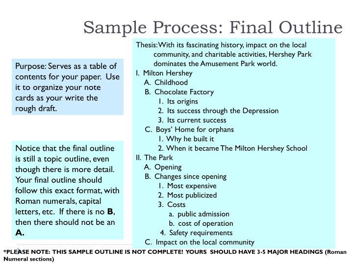 Sample Process: