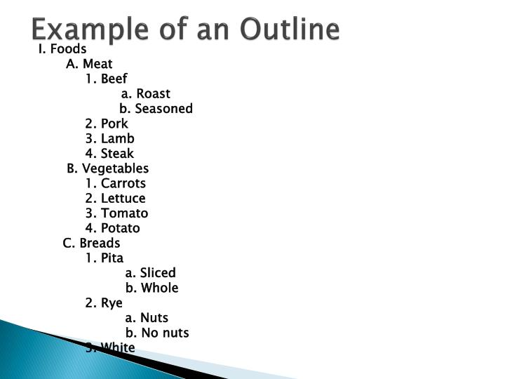 Example of an Outline