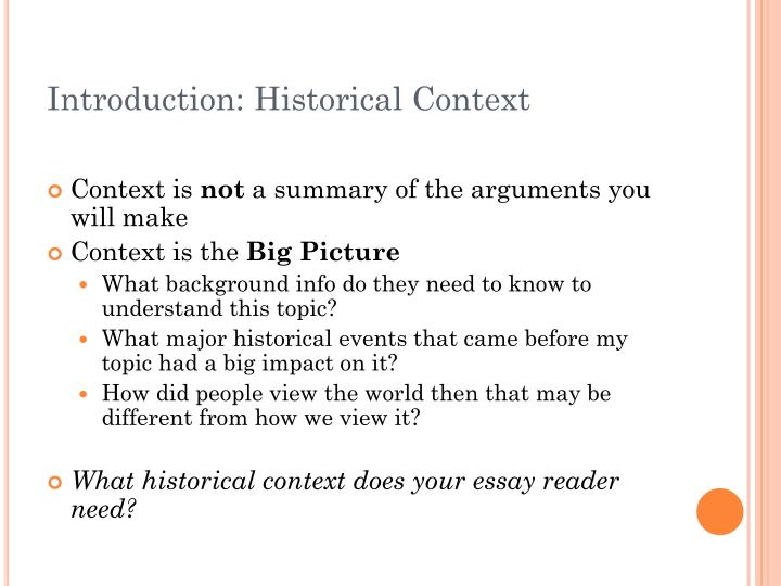 Introduction: Historical Context