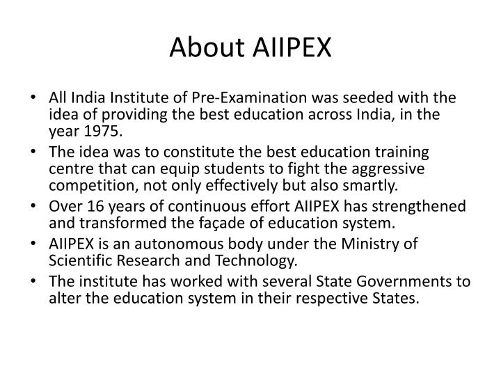 about aiipex n.