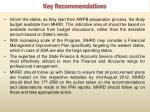 key recommendations