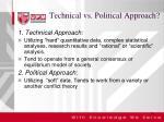technical vs political approach