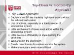 top down vs bottom up approach