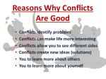 reasons why conflicts are good