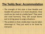 the teddy bear accommodation
