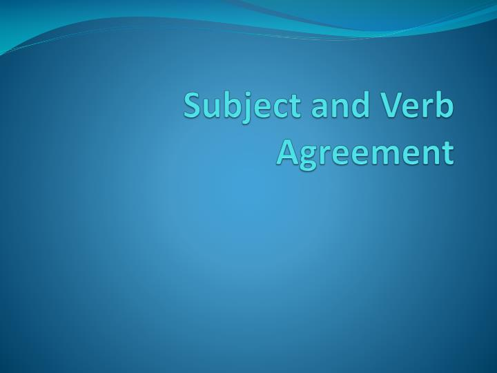 subject and verb agreement n.
