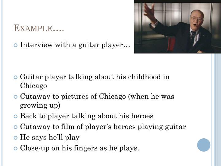 Example….