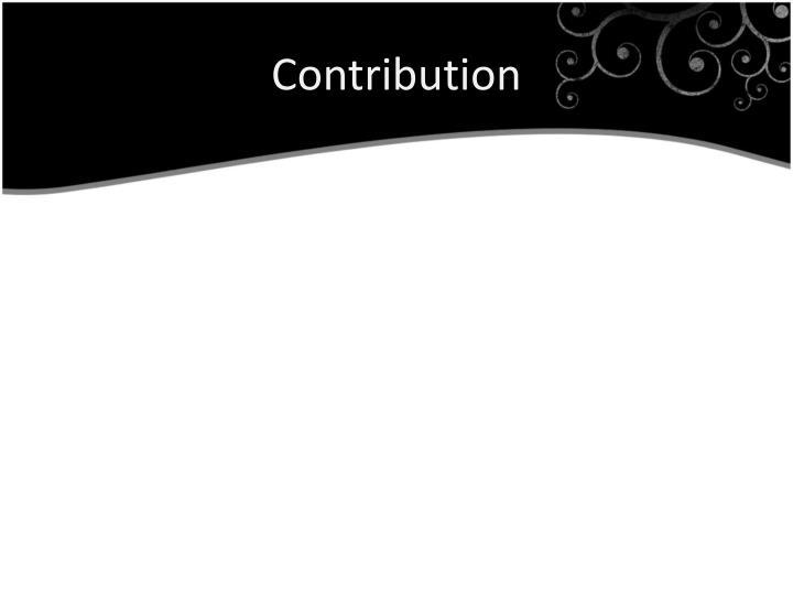 Contribution