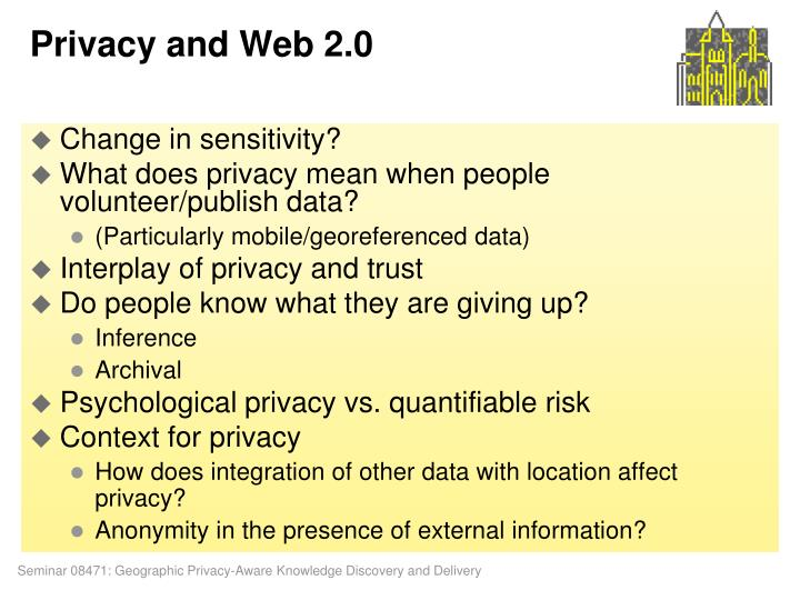 Privacy and Web 2.0