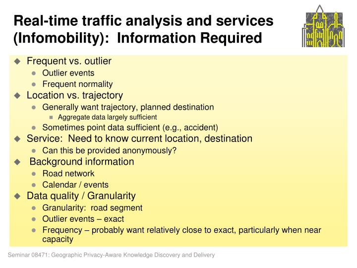 Real-time traffic analysis and services