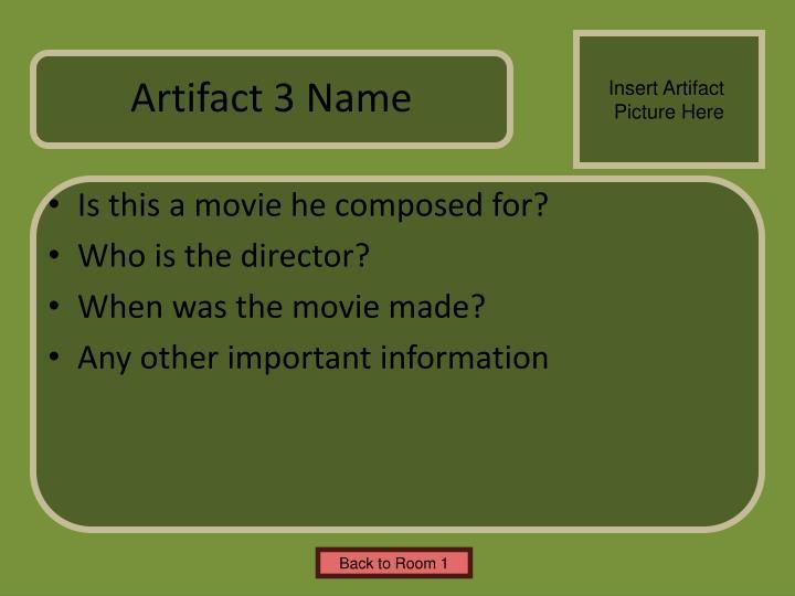 Artifact 3 Name