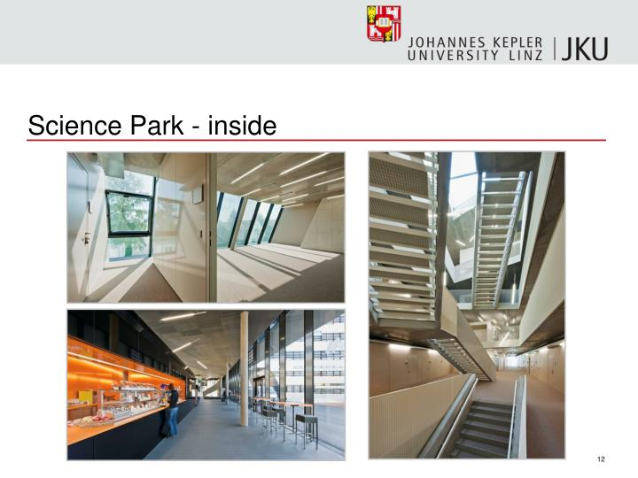 Science Park - inside