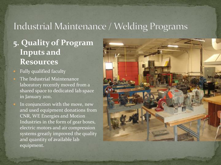 Industrial Maintenance / Welding Programs