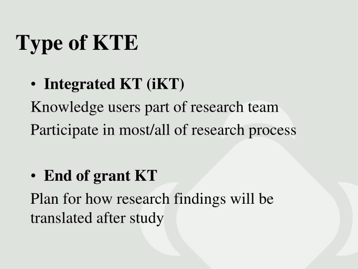 Type of KTE