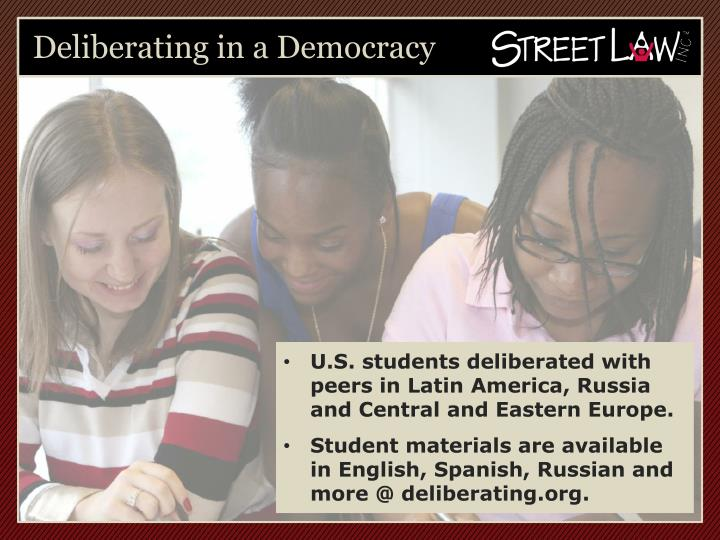 Deliberating in a Democracy
