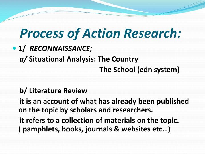 Process of Action Research: